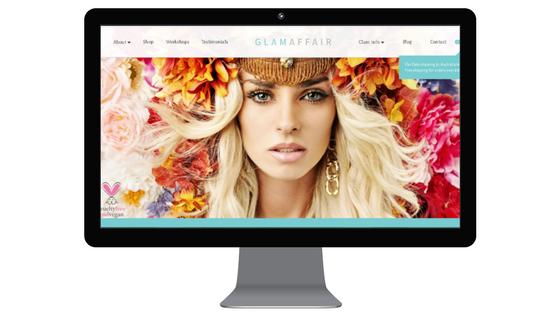 glam affair website copy